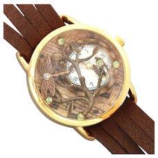 Ladies Wrist Watch, Leather Wrist Watch, Tree Of Life, Unique Watch, Wrist Watch, Women