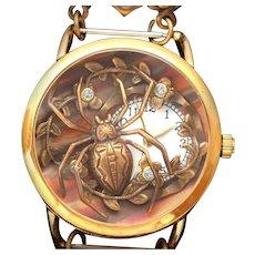 Wrist Watch, Bracelet Watch, Unique Watch, Spider Watch, Womens Watches, Ladies Watch
