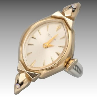 Vintage Watch, Watch Ring, Gold, Sterling Silver, Steampunk Ring