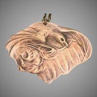 Art Nouveau Style Necklace, Gothic, Raven Necklace, Bird Necklace, Vintage, Bat Wings