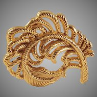50% OFF Plume feather Gold tone Brooch