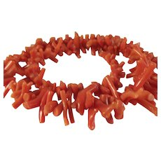 Natural Coral Branch Necklace