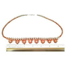 50% OFF Angel Skin CORAL Woven Bead Necklace