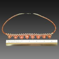 66% OFF Angel Skin CORAL Woven Bead Necklace
