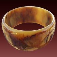 40% OFF Bakelite Extra Wide end of the day marbled bangle bracelet