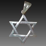 39 % OFF Vintage Sterling Silver Jewish Star Of David Pendant