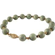 55% OFF 14K Jade Jadeite Beaded Bracelet