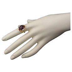 Herbert Rosenthal VVS Garnet Diamond 14k Ring