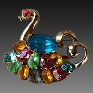 60% OFF CoroCraft Swan Brooch