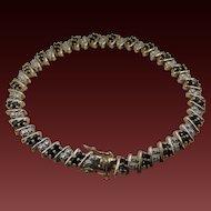 Vintage Genuine Sapphire and Diamond Bracelet