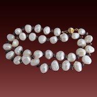 20% OFF 14k Garnet BAROQUE Pearl Bead Necklace