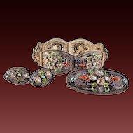 40% OFF 20s Chinese Silver Enamel Parure~ Bracelet/ Brooch/ Earrings