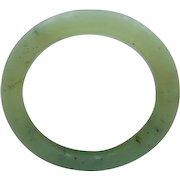 65% OFF vintage pale green Jade bangle bracelet