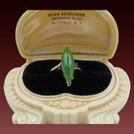 40% OFF Retro 14k Nephrite Jade Ruby Ring
