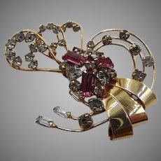 2d56057aecf0 Jo Jo s Gems.  64 USD SALE. 50% OFF 12k GF Rhinestone Brooch