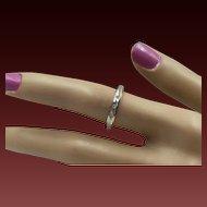 15% OFF 14K  Diamond Stacking Ring - Size 6 3/4