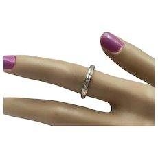 15% OFF 14K  Diamond Stacking Ring - Size 6 3/4