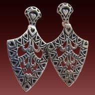 Sterling Heart Dangle Earrings