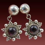 20% OFF Sterling Garnet Drop Earrings
