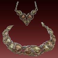 10% OFF 12k Black Hills Gold Bracelet & Necklace set