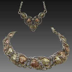 12k Black Hills Gold Bracelet & Necklace set