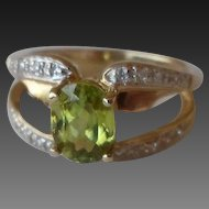 20% OFF Plus an Extra 30% Red Tag Laura Ramsey 14K Peridot Diamond Ring
