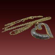 Sterling 18k Vermeil Genuine Diamond Pave Necklace