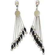 Art Deco style Beaded Post earrings