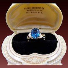 Gorgeous 9K London Blue Topaz Ring