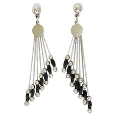 20% OFF Art Deco style Beaded Post earrings