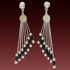 20% OFF Art Deco style Beaded Post earrings