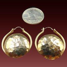 25% OFF Hammered Hoop Gold Tone vintage earrings