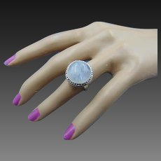 Vintage 925 Sterling Silver Moonstone Ring
