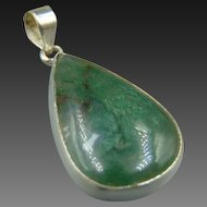 Sterling Moss Agate Pendant