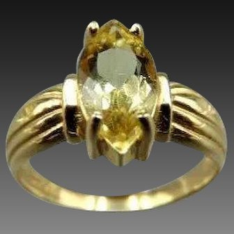 20% OFF 14k Marquise cut Citrine Ring