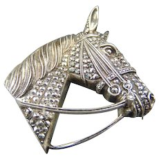 20% OFF Stunning Alice Caviness Sterling Horse head Brooch Pin