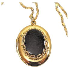 Vintage 14k GF Locket Marked W.E.H. CO