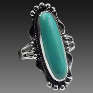 Sterling Turquoise Ring SZ 7