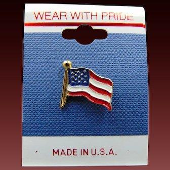 80's American Flag Pin Free Shipping