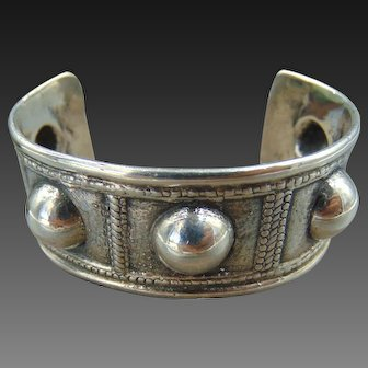 Vintage Peruzzi Domed Sterling Silver Cuff Peruzzi Florence Italy