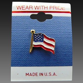 80's American Flag Pin