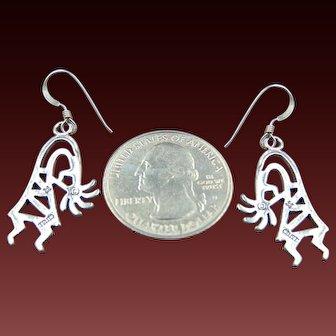 Sterling Kokopelli Earrings good luck jewelry