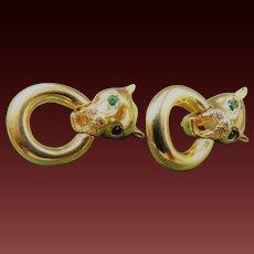 Givenchy  Doorknocker Panther Pierced Earrings