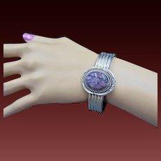 30 % OFF Oscar Alexius sterling sugilite Native American cuff bracelet