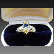 25% OFF 14k Marquise cut Citrine Ring