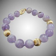 14k GF Lavender Cape Amethyst Beaded Bracelet