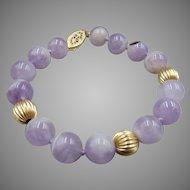 30% OFF 14k GF Lavender Cape Amethyst Beaded Bracelet