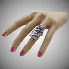 30% OFF Sterling Silver Rose leaf ring Size 7