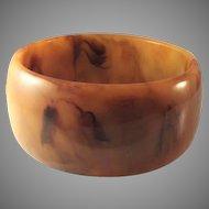 30% OFF Bakelite Wide end of the day marbled bangle bracelet