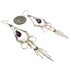 35% OFF 9ct Vintage Amethyst Drop Earrings